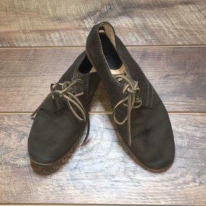 Frye Jillian Oxford Lace Up Shoes - Brown